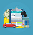 car insurance form concept vector image vector image