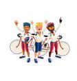 cartoon cyclist vector image vector image