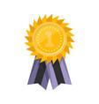 champion achievement medallion with ribbon vector image