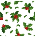 Christmas berry decoration seamless pattern vector image vector image