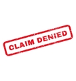 Claim Denied Text Rubber Stamp vector image vector image