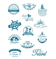 collection travel icons vector image vector image