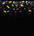 color confetti festive decoration falling confetti vector image