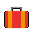 color red suitcase cartoon vector image vector image