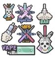 colorful set of vape bar stickers banners vector image vector image