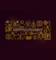 cryptocurrency golden vector image vector image