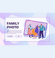 family activities flat set vector image