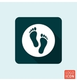 Feet icon isolated vector image