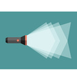 Flashlight with light beam vector image vector image