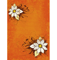 flower orange background vector image vector image