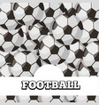 football balls sport background design vector image