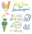 German text Schulanfang translate Back to School vector image