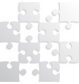 Grey puzzle pieces - jigsaw - chess