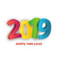 happy new year celebration 2019 template vector image vector image