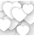 Heart applique background vector image vector image