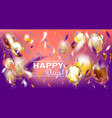 image with matallic balloons and foil confetti vector image vector image