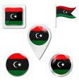 libya august 2011 - new flag libya after vector image vector image