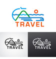 logo for travel vector image