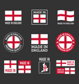 made in england icon set made in england product vector image vector image