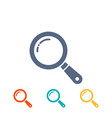 magnifier icons set flat magnifying glass search vector image