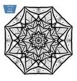 mandala coloring page vintage decorative vector image vector image