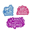 Merry Christmas and Feliz navidad stickers vector image vector image