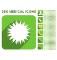 Microbe Spore Icon and Medical Longshadow Icon Set vector image vector image