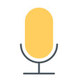 old microphone silhouette icon pictogram vector image vector image