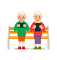 old people with computer tablet in hands elderly vector image vector image