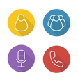 Online conference flat linear icons set vector image vector image