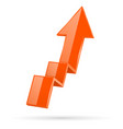 orange indication arrow moving up 3d financinal