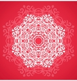 Ornamental round red lace pattern vector image vector image
