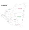 Outline Nicaragua map vector image