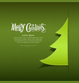 Merry christmas ribbon paper green tree vector | Price: 1 Credit (USD $1)