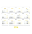 paper style 2014 year calendar vector image vector image