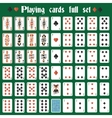 Playing cards full set vector image vector image