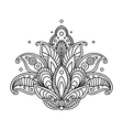 Pretty ornate paisley flower design element vector image vector image