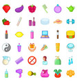 product icons set cartoon style vector image vector image