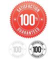 Red Satisfaction Guaranteed Seals set vector image vector image