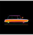 retro car isolated on black sketch for your vector image vector image