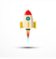 rocket launch icon - symbol vector image vector image