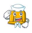sailor construction helmet character cartoon vector image