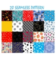 Seamless Pattern Background Set vector image