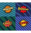 Set of comic bubbles in pop-art style vector image vector image