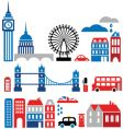 silhouettes european cities vector image