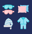 sleep pajamas icon bed sign vector image vector image