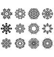 Snowlakes set vector image