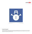 snowman icon - blue photo frame vector image vector image