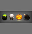 stock set halloween isolated vector image vector image