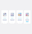 summer time beach vacation line objects ui ux vector image